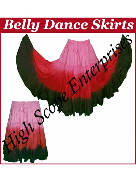 Belly Dance Ladies Tie-Dye  Color Skirts HSE-LS-20029
