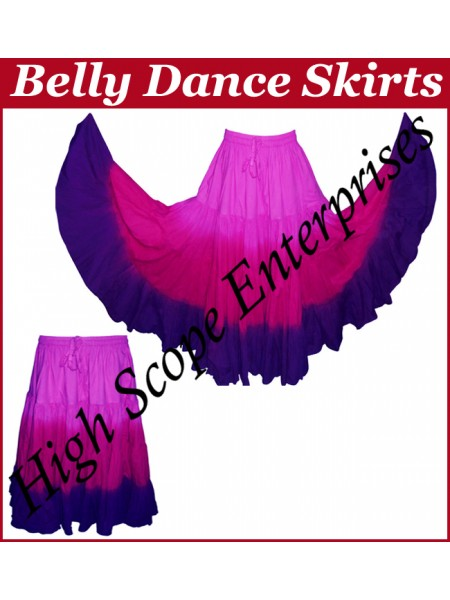 Belly Dance Ladies Tie-Dye  Color Skirts HSE-LS-20030