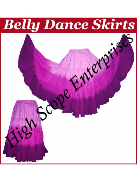 Belly Dance Ladies Tie-Dye  Color Skirts HSE-LS-20032