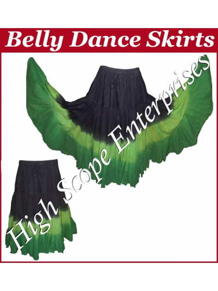 Belly Dance Ladies Tie-Dye  Color Skirts HSE-LS-20039