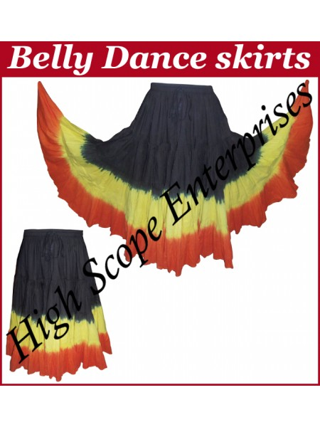 Belly Dance Ladies Tie-Dye  Color Skirts HSE-LS-20041