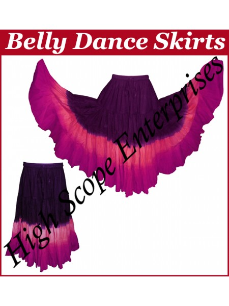Belly Dance Ladies Tie-Dye  Color Skirts HSE-LS-20046